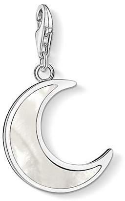 Thomas Sabo Women's 925 Sterling Silver Charm Moon Club Pendant Y0008-001-21 o40QdkyXZh