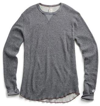 Todd Snyder + Champion Long Sleeve Jacquard Thermal Tee in Black Mix