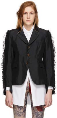 Comme des Garcons Black Frayed Blazer