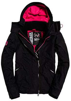 Superdry Women's Women's Arctic Hooded POP Zip UP Fleece Lined Multi Pocket SD-Windcheater Jacket
