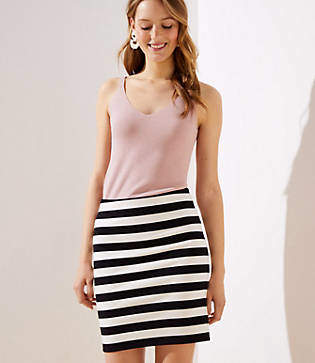 6753fdc2d1 LOFT Petite Striped Pull On Pencil Skirt