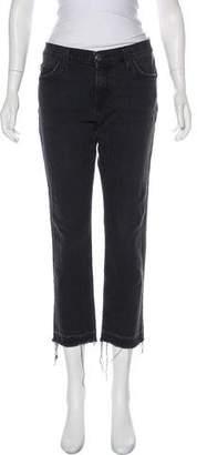 Current/Elliott Mid-Rise Straight-Leg Jeans