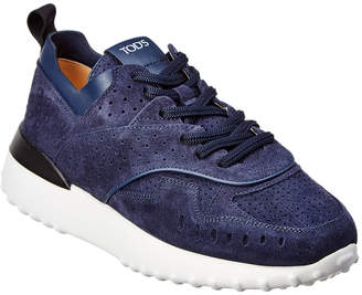 Tod's Perforated Suede Lace-Up Sneaker