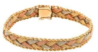 14K Tri-Color Braided Bracelet