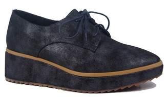 Antelope Metallic Leather Platform Oxford