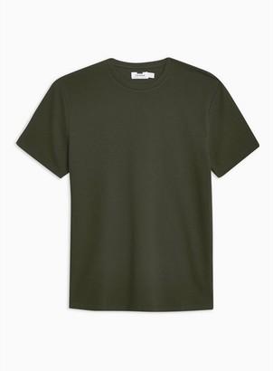 Topman Mens Khaki Ottoman T-Shirt