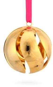 Georg Jensen 24K Gold-Plated Brass Cutout Christmas Ball Ornament