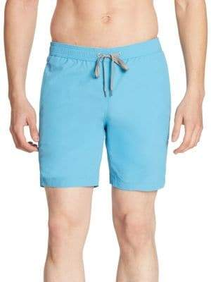 Onia COLLECTION Solid Nylon Swim Trunks