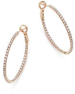 Bloomingdale's Diamond Inside-Out Hoop Earrings in 14K Rose Gold, 1.0 ct. t.w. - 100% Exclusive