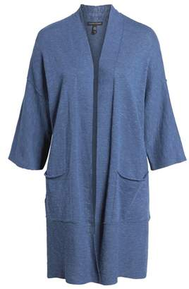 Eileen Fisher Organic Linen & Cotton Kimono Cardigan