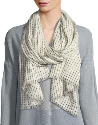Eileen Fisher Dash Stripe Organic Cotton/Wool Scarf