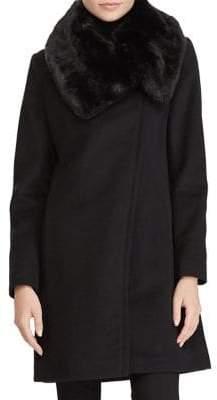 Lauren Ralph Lauren Faux Fur-Collar Coat