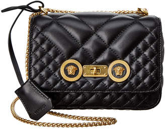 Versace Small Icon Quilted Leather Shoulder Bag