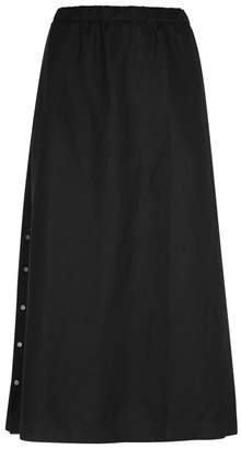 Eileen Fisher Black Flared Midi Skirt