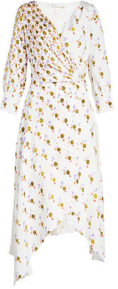 Peter Pilotto Printed Silk Crepe Wrap Dress