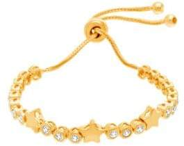 Lord & Taylor Cubic Zirconia Circle Station and Star Slider Bracelet