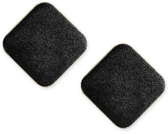 INC International Concepts I.N.C. Gold-Tone Velvet Square Button Stud Earrings, Created for Macy's