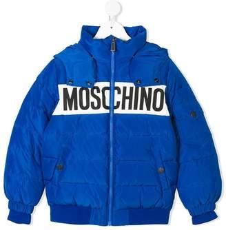 Moschino (モスキーノ) - Moschino Kids TEEN logo print padded jacket