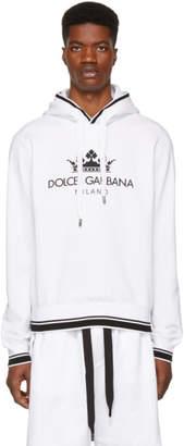 Dolce & Gabbana White Crown Logo Hoodie