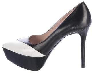 Miu Miu Pointed-Toe Platform Pumps
