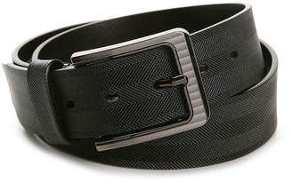 Stacy Adams Stamped Herringbone Leather Belt - Men's