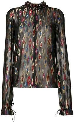 Saint Laurent metallic embroidered blouse