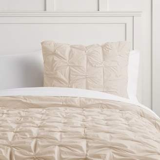 Pottery Barn Teen Textured Bows Duvet Cover, Twin/Twin XL, Ashy Rose
