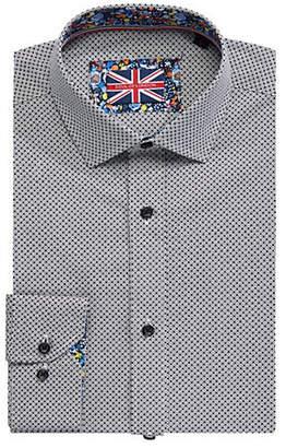 SOUL OF LONDON Printed Long-Sleeve Dress Shirt