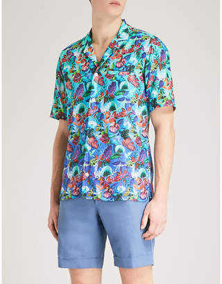Eton Tropical floral-print slim-fit cotton shirt
