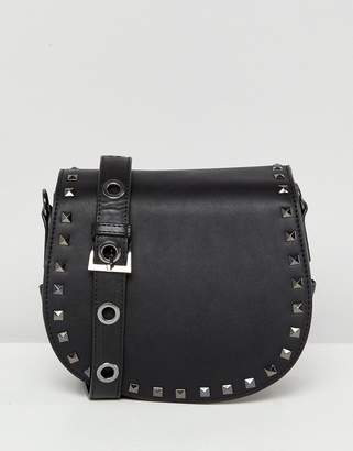 Marc B Across Body Satchel With Studding