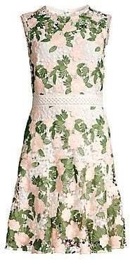 Shoshanna Women's Roseia Floral Lace Sleeveless Dress