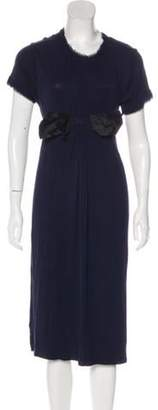 Lanvin Knit Midi Dress Navy Knit Midi Dress