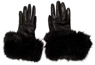 Calvin Klein Collection Cashmere-Lined Leather Gloves