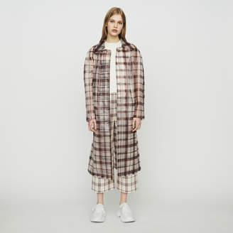 Maje Transparent checkered windproof jacket