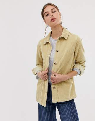 Asos Design DESIGN cord shacket in washed yellow