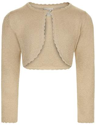 Monsoon Girls' Gold 'Niamh' Cardigan