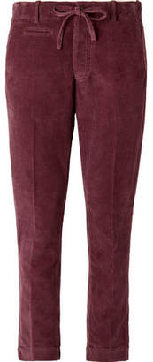 MAN 1924 Burgundy Slim-Fit Cotton-Corduroy Suit Trousers
