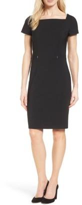 Women's Boss Dasoni Stretch Wool Sheath Dress $575 thestylecure.com