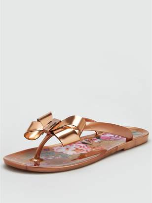 Ted Baker Susziep Jelly Flip Flop - Serenity Rose Gold