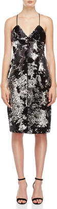 Milly Sequin Bias-Cut Slip Dress