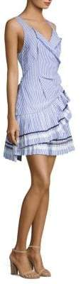 Tanya Taylor Arabella Pleated Grosgrain Dress