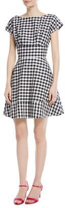 Kate Spade Gingham Fiorella Fit-&-Flare Dress