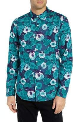 The Rail Floral Print Flannel Shirt
