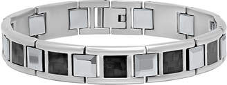 FINE JEWELRY Mens Stainless Steel and Tungsten Bracelet