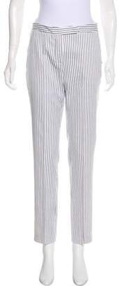Gianfranco Ferre Striped Mid-Rise Pants