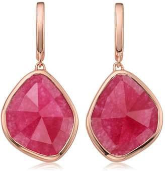 Monica Vinader Siren Large Nugget Rose Quartz Earrings