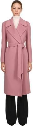 Tagliatore Belted Wool & Cashmere Long Coat