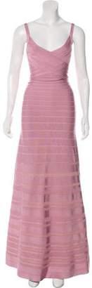 Herve Leger Ameliya Crochet Bandage Gown