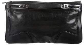 Michele Leather Zip Clutch