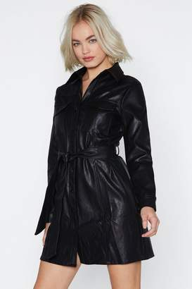 Nasty Gal Tonight's the Night Faux Leather Dress